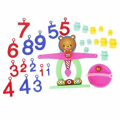 Colorful Plastic Bear Balance Scale Numbers Children Educational Toy WD