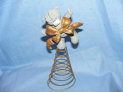 Me To You Tatty Teddy Christmas Bear Wrapped In A Bow NEW 41190SKU Tree Topper