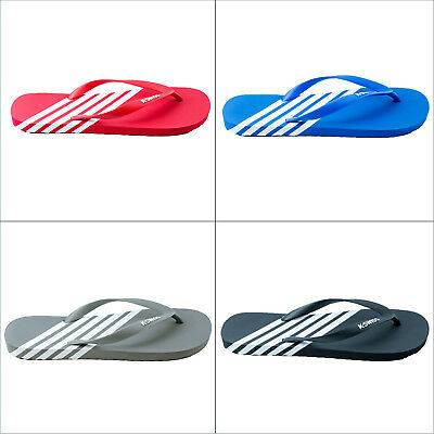 K-Swiss K-Flop Mens Summer Flip Flops Striped Beach Shoe Slip On Toe Post Sandal