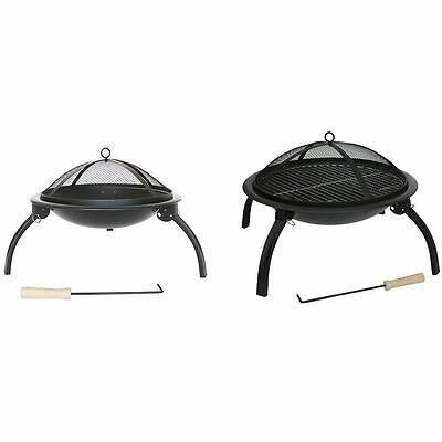 Steel Fire Pit Folding Garden Patio Camping Heater BBQ New By Home Discount