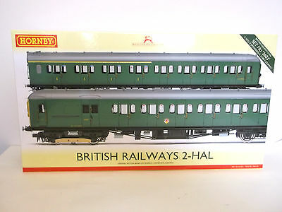 HORNBY R3340 2 HAL in BR green, one powered, one dummy car - new