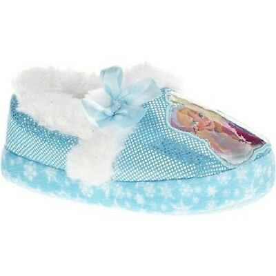NEW NWT Disney Frozen Elsa Anna Slippers Size 5/6 Baby or Toddler