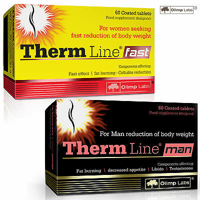 Therm Line Fast And/Or Man Fat Burner Slimming Reduce Appetite Weight Loss Multi