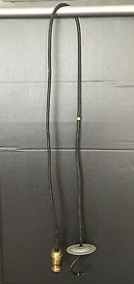 "58"" Long Matched Hanging Pendant Light 4 Available H&H Socket Great!!"