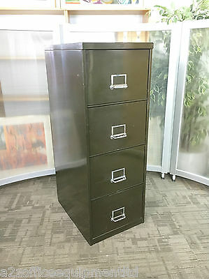 Vintage Metal Filing Cabinet / Retro Steel 4 Drawer Filing Cabinets [NSE] Green