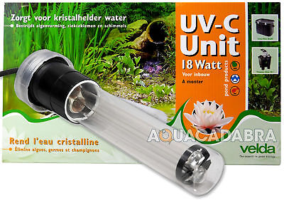 Velda Uv-C Unit Filter 18W For Biofill Filtriation Garden Pond Fish Koi Goldfish