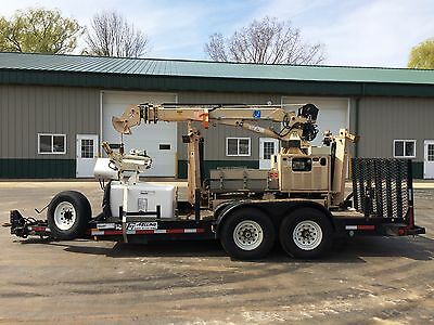 2004 Tiiger-I Mini Digger Derrick Trencher With TRAILER & AERIAL BUCKET Manlift