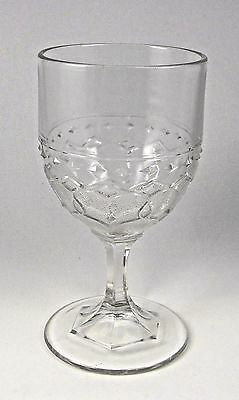 Antique Glass Wine Water Goblet Footed Pattern Victorian Clear Glass