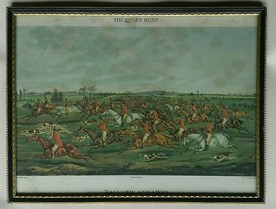 'Talli-Ho! And Away' The Quorn Hunt - H. Alken & FC Lewis 1835,  Framed & Glazed