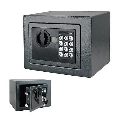 NEW Gray Color Digital Electronic Safe Box Keypad Wall Floor Mount Home Security
