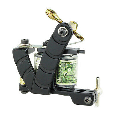 New Black Color Design Tattoo Machine Gun For Liner & Shader Dual 10-Wrap Coils