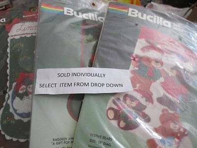 Bucilla Felt Stocking Embroidery Kit Your Choice- Various Sizes