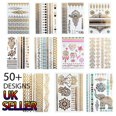 Henna Temporary Tattoo Metallic Tattoo Gold Flash Tattoos Henna Tattoo 40 Design