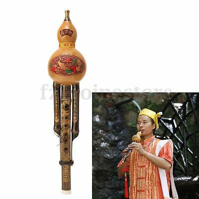 Chinese Hulusi Knot Yunnan Gourd Cucurbit Flute Bb Ethnic Musical Instrument