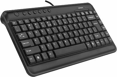 A4 Tech KL-5 Compact Mini Multimedia Keyboard Black - USB