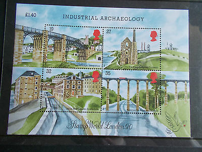 GB QEII 1989 Industrial Archaeology Miniature Sheet Royal Mail Price £1.40 M/N/H