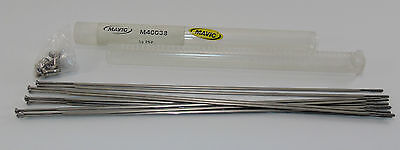 NOS MAVIC COSMIC CARBONE CLINCHER 650c SPOKE KIT (10), #40038, 262mm, SILVER,NEW