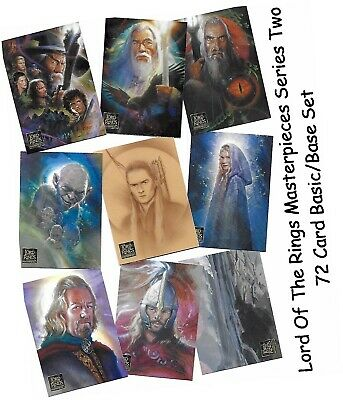 LOTR Lord Of The Rings - Masterpieces Series 2 - 72 Card Basic/Base Set - 2008