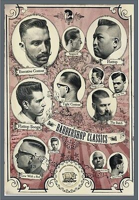 "TARGA VINTAGE ""1960 HAIR CUTS BARBER SHOP"" Pubblicità, ADVERTISING, POSTER,PLATE"