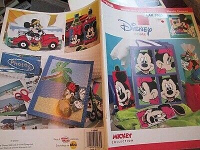 Traveling With Mickey Plastic Canvas Book-Leisure Arts- Disney Home, Mickey Coll