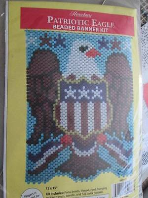Patriotic Eagle Beaded Banner Kit-12x15 inches (30x38cm)-Herrschners
