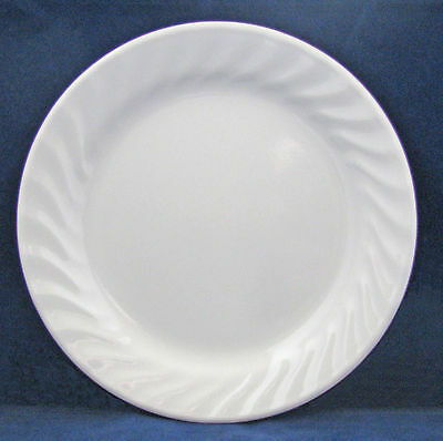 Corelle ELEGANCE Enhancements White Swirl SALAD / LUNCHEON PLATE