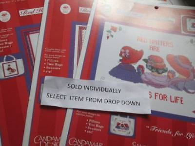 Candamar Red Hat Society Cross Stitch CHART Your Choice