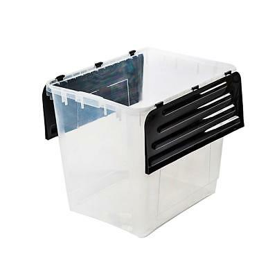 Storage Box with Folding Lid 60 L Box Boxes Stack boxes Plastic boxes
