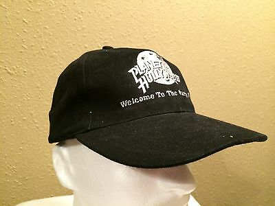Planet Hollywood Welcome to the Party Hat Black Adjustable Velcro Lipton