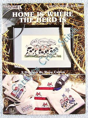 Cross Stitch Pattern Home Is Where The Herd Is 9 Moooving Designs