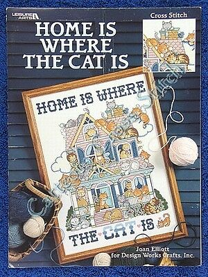 Cross Stitch Chart Home Is Where The Cat Is Joan Elliot Pattern