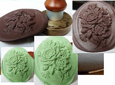 Wax  Seal  bouquet of flowers  BRAS– stamp