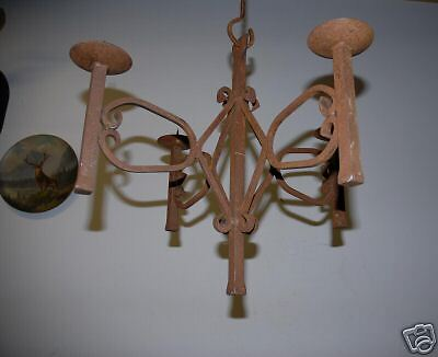 A Nice Scrolled Wrought Iron Hanging 4 arms Candelabra