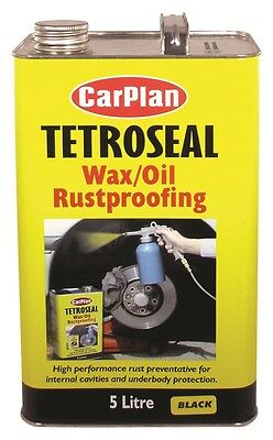Carplan Tetrosyl Waxoyl Rustproof Protector BLACK  5L - Tetroseal Wax Oil