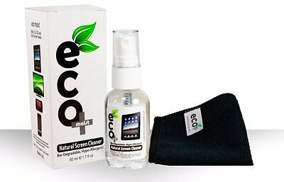 Ecomoist Natural Screen Cleaner 50ml with Fine Microfiber Towel NEW