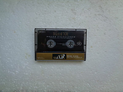 Vintage Audio Cassette SONY Metal-XR 90 From 1999 - Fantastic Condition !!