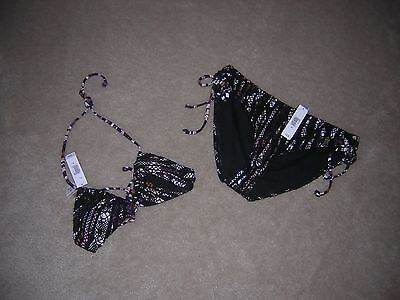 Old Navy Two Piece Swimsuit Black NEW/NWT