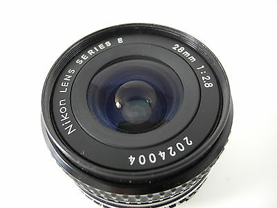 Nikon E Series 28/2.8 Ais Perfect Glass Smooth Focus And Aperture Perfect Lens