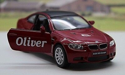 PERSONALISED NAME Gift BMW M3 Boys Toy Car Model Dad Present Stocking Filler New