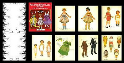 1:12 SCALE MINIATURE PAPER DOLLS KEWPIES SET