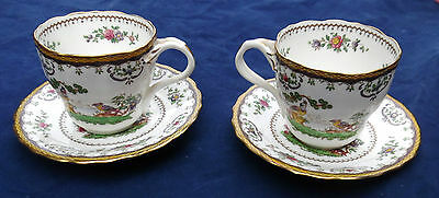 2 Spode Copeland coffee cups & saucers ( exclusive to Harrods)