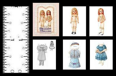 1:12 SCALE MINIATURE BLONDIE IN THE MOVIES PAPER DOLLS