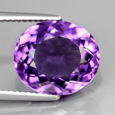 8x6mm OVAL-FACET LIGHT-PURPLE NATURAL BRAZILIAN AMETHYST GEMSTONE