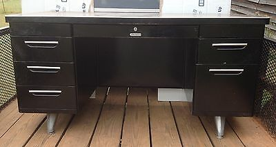 Vintage Steelmaster Tanker Desk 8 Drawers Industrial Mid Century Metal SC Pickup