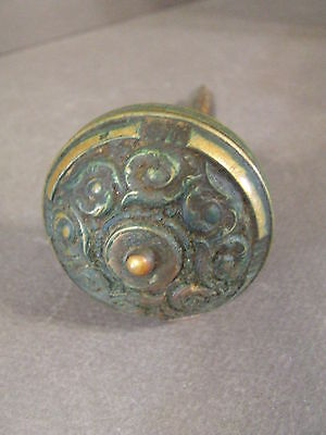 Vintage Eastlake Brass Door Knob Door Handle  Great Patina