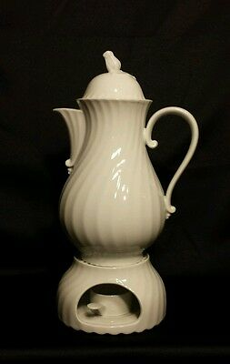 "Kaiser Nicole Swirl 10 1/2""  Coffee Pot With Warmer & Candle Holder"