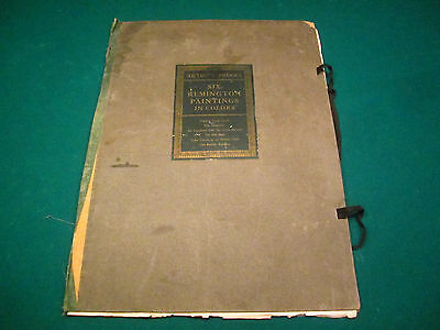 5 Antique Remington Artist's Proofs Collier & Son Cowboy American Indian Western