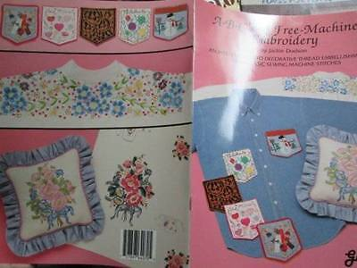 ABC's Of Free-Machine Embroidery Booklet-Dodson-Flowers/Balloons/Halloween/July