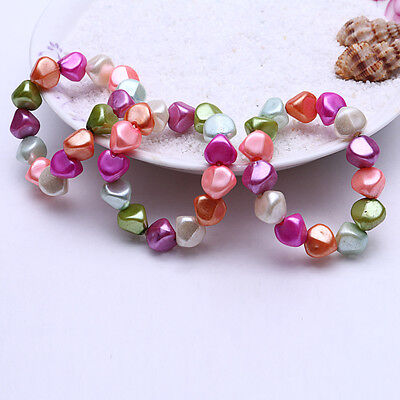 Handmade Geometric Chunky Glossy Nugget Bead Gem Cubic Bracelet Girl Party Prop