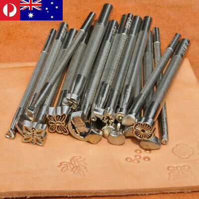 20pcs/Set Leather Working Saddle Making Tools Carving Leather Craft Stamps
